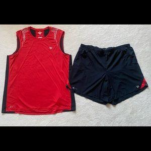 Pearl Izumi men's Elite Series running tank top and shorts XXL